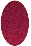 rug #176069 | oval pink natural rug