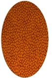 rug #176073   oval red-orange rug