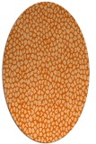 rug #176077 | oval red-orange animal rug
