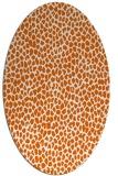 rug #176085 | oval red-orange animal rug