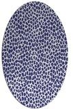 rug #176097 | oval blue animal rug