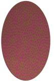 rug #176145 | oval light-green animal rug