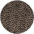 rug #176533 | round black natural rug