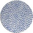 rug #176561 | round blue animal rug