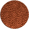 rug #176721 | round red-orange popular rug