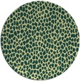 rug #176725 | round blue-green rug