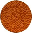 rug #176777 | round red-orange popular rug