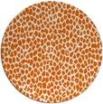 rug #176789   round red-orange animal rug