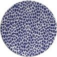 rug #176801 | round blue animal rug