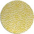 rug #176821 | round yellow rug