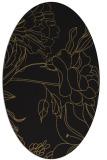 rug #177597 | oval black natural rug