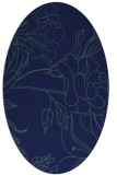rug #177609 | oval blue-green natural rug