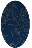rug #177613 | oval blue graphic rug