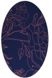 rug #177669 | oval blue-violet graphic rug