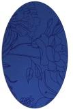 rug #177681   oval blue-violet graphic rug