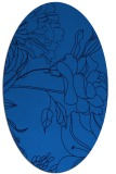 rug #177745 | oval blue graphic rug