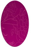 rug #177785 | oval pink graphic rug