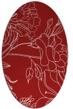 rug #177825 | oval red natural rug