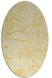 rug #177865 | oval yellow natural rug
