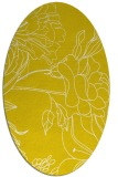 rug #177877 | oval yellow natural rug