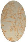rug #177893 | oval beige natural rug