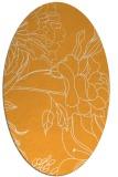 rug #177925 | oval light-orange graphic rug