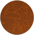rug #178545 | round red-orange graphic rug