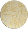 rug #178569 | round yellow graphic rug