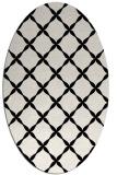 rug #179341 | oval black geometry rug