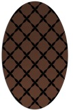 rug #179353 | oval black traditional rug