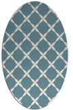 rug #179361 | oval white traditional rug
