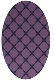 rug #179433 | oval purple traditional rug