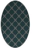 rug #179465 | oval green traditional rug