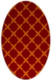 rug #179525 | oval red-orange traditional rug
