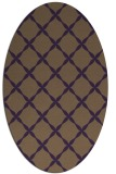 rug #179569 | oval purple traditional rug