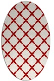 rug #179577 | oval red traditional rug