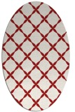 rug #179585 | oval red traditional rug