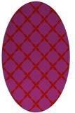 rug #179589 | oval red popular rug