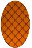 rug #179593 | oval red-orange traditional rug