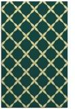 rug #179893 |  blue-green geometry rug