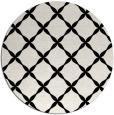 rug #180045 | round black geometry rug