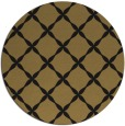 rug #180061 | round mid-brown traditional rug