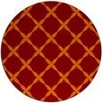 rug #180229   round red-orange geometry rug