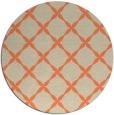 rug #180237 | round beige geometry rug