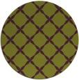 rug #180269 | round green geometry rug