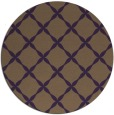 rug #180273 | round mid-brown traditional rug