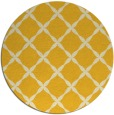 rug #180329 | round yellow traditional rug