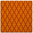 rug #181001 | square red-orange geometry rug