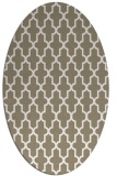rug #181097 | oval white traditional rug