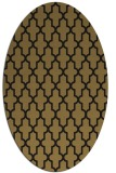 rug #181117 | oval brown rug